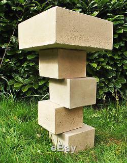 Cube Bird Bath /Bird Feeder Cubist Art Movement