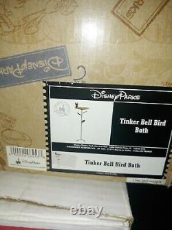 DISNEY Parks TINKER BELL BIRD BATH Garden Yard Art Rare MIB