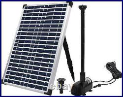 ECO WORTHY Solar Fountain Water Pump Kit 20 W 360GPH Submersible Powered & Watt