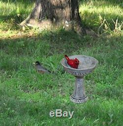 Fairy Garden Figurine Of Cardinal Birdbath Model Gift Home Decoration Mini Bird