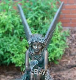 Fairy Shell Outdoor Water Fountain Bird Bath Garden Decor