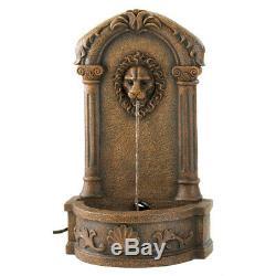 Falling Water Rustic Garden Fountain Yard Waterfall Bird Bath Electric with Pump
