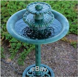 Fountain & Bird Bath Green Vintage Ceramic Weather Resistant Garden Outdoor