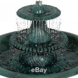 Fountain Bird Bath Outdoor Garden Solar Water Pump Patio Birdbath Decor Yard