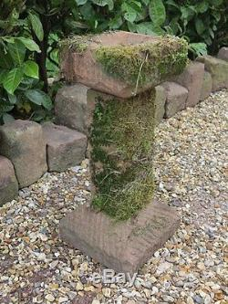 Free Standing Sandstone Stone Bird Bath Birdbath Garden Ornament Bird Feeder