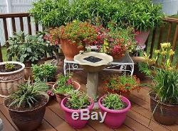 Frog Solar Water Fountain Patio Garden Outdoor Green Birdbath Decor Bowl Yard