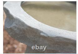 Garden Ancient Bird Bath Outdoor Décor Art Cast Stone Birdbath USA Made Modern