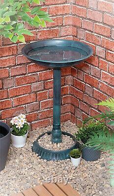 Garden Bird Bath Bowl Planter Outdoor Traditional Bird Feeding Table Station