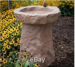 Garden Bird Bath Outdoor Heavy Décor Art Stone Look Birdbath Resin Bowl Patio