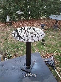 Garden Bird Bath, reflective pool, ART, contemporary Art, patio base32 Birdba