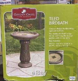 Garden Oasis Tiled Birdbath