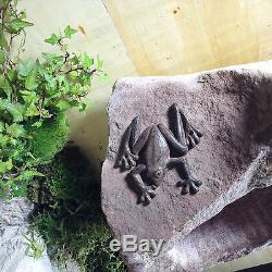 Garden Path Water Element Pond Natural Stone Trough Fountain Bird Bath Spiral