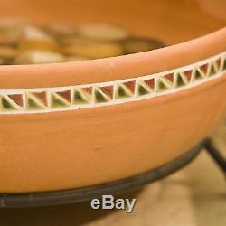 Garden Solar Cascading Water Fountain 5 Terra Cotta Bowls Birdbath Outdoor Decor