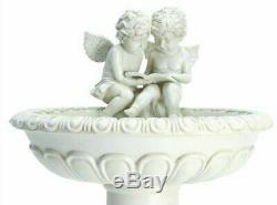 Gardenwize Solar Reading Cherub Angel Grave Garden Stand Bird Bath Table Feature