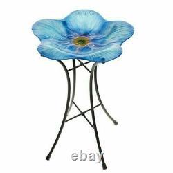Gardman Forget Me Not Bird Bath Blue Flower Wild Bird Bath Garden Decor