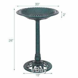 Giantex Pedestal Bird Bath Feeder Freestanding Outdoor Garden Yard Patio Deco#63
