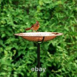 Good Directions Pure Copper Bird Bath on Garden Pole by Good Directions