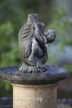 Gorgeous Large 5 piece Garden Fountain Water Feature Preloved with Patina