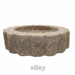 Granite Bird Bath Garden Outdoor Decor Hand Carved Stone Statuary Birdbath