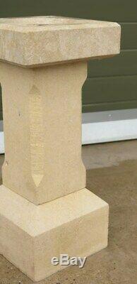 Hand Carved Solid Limestone Garden Bird Bath Reclaimed Stone Garden Ornament