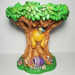 Henri Studios Disney's Winnie The Pooh Tree Bird Bath/Feeder Garden Statue Rare