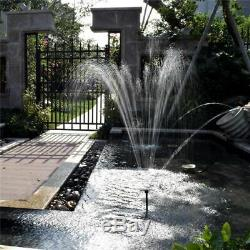 High Power Solar Fountain Garden Villa Pond Pool Decor Bird Bath Waterfall Pump