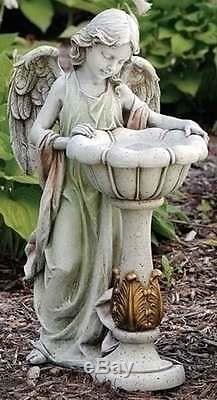 Joseph's Studio 23 Girl Angel withSolar Birdbath Garden Statue Figure #47237 NEW