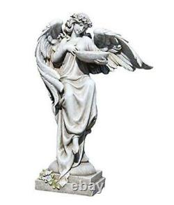 Joseph's Studio Angel with Bird Bath Statue, 20H, Garden 20-inch Height