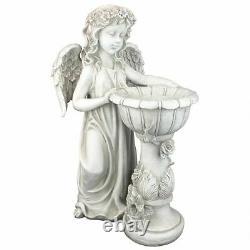 Katlot Angelique's Garden Splash Angel at Birdbath Statue