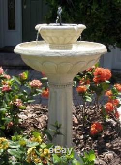 Kensington Gardens Two-Tier Solar on Demand Fountain ID 68724