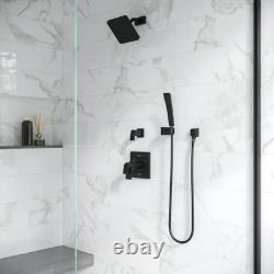 Kenzo 1-Spray 1.84 in. Single Wall Mount Low Flow Handheld Shower Head in Matte