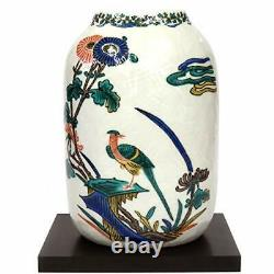 Kutani No. 7 Vase Old Kutani Flowers And Birds With Garden Tub Pottery Interio