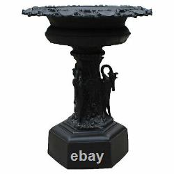 Large Garden Fountain or Urn Adorned with Birds Antique Replica 50 Inches Tall