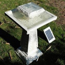 Large Solar Powered Outdoor Garden Water Fountain Feature Pond Bird Bath F1