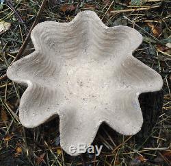 Latex shell birdbath Mold With Plastic Backup casting garden birdbath mold