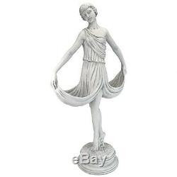 Lithe Dancing Ballerina Holding Skirts Graceful Garden Statue Birdbath or Feeder