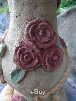 Mediterranean French Style Roses Stone Garden Birdbath Water Feature