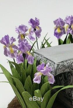 Miniature 112 Artist Birdbath iris bench garden by Kraig Councell