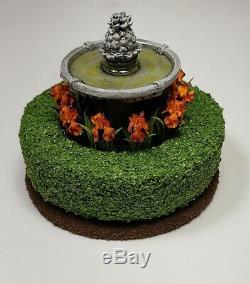 Miniature 112 Artist Birdbath iris garden by Kraig Councell