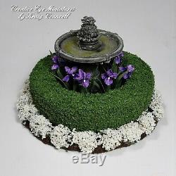 Miniature 112 Artist Iris Birdbath Garden by Kraig Councell