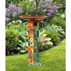 Multicolor Outdoor Love Garden Yard All Weather Bird Bath Copper Plated Bowl