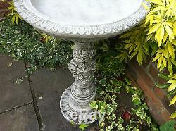 NEW Rose Bird Bath, Garden stone bird bath, Concrete ornaments, Beautiful rose peta