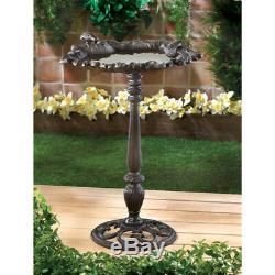 Ornate Metal Bird Bath, Decorative Bird Baths, Tall Cast Iron Garden Bird Baths