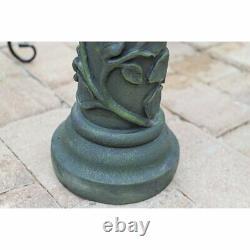 Outdoor Bird Bath Pedestal Birdbath Garden Sculpture Statue Antique Bowl Patio