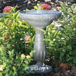 Outdoor Bird Bath Water Fountain Solar Powered Garden Backyard Patio Birdbath