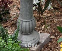 Outdoor Garden Patio Backyard Durable Solar Power 2 Tier Fountain Birdbath