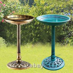 Outdoor Patio Garden Bird Bath Traditional Ornament Pedestal Birds Water Bowl