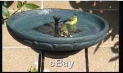 Outdoor Solar Bird Bath Pool Fountain Pump Garden Standing Decor Backyard Iron