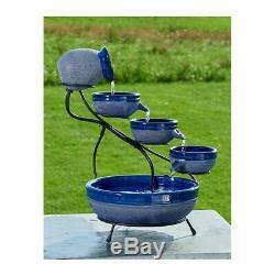 Outdoor Solar Water Fountain Feature Bird Bath Pond Yard Garden Patio Home Decor