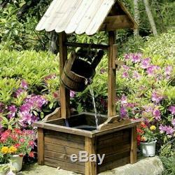 Outdoor Water Fountain Garden Tiered Electric Waterfall Patio Birdbath Cascade